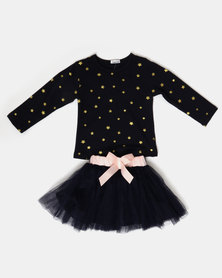 Bugsy Boo Fairy Winged Tulle Dress Navy