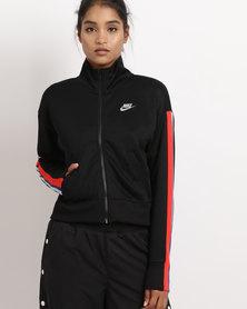 Nike Womens NSW Jacket PK TXT FRM Blacklight Pumice