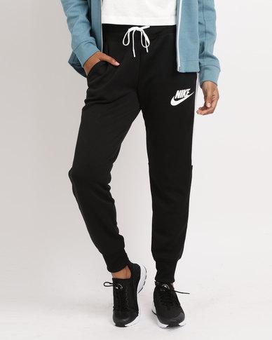 a3c6cf030152 Nike Womens NSW Jogger PK HW Black White