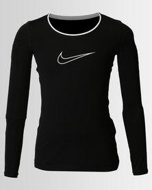 Nike Girls Pro Top Black
