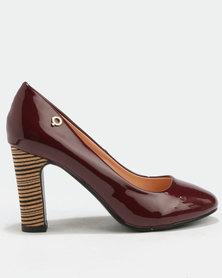 Bronx Women Tanya Block Heel Court Shoe Red