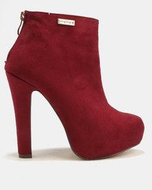 Sissy Boy Platform Ankle Boot Burgundy