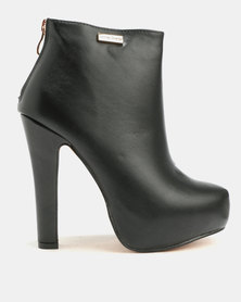 Sissy Boy Platform Ankle Boot Black