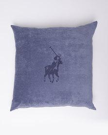Polo Laser Pony Scatter Cushion Velvet Blue