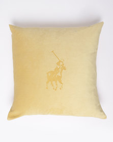 Polo Velvet Laser Scatter Cushion Yellow