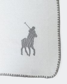Polo Shell Stitch Throw Grey
