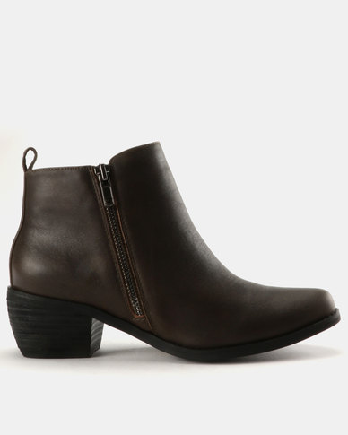 cheap find great Julz Julz Naomi Leather Western Boots With Zip Detail Brown the cheapest Orange 100% Original online store outlet fashionable peax3