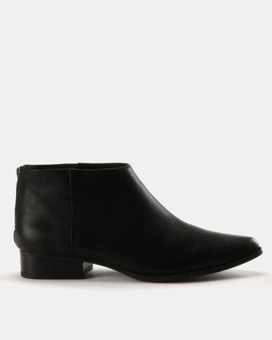0dc341f57785 Julz Mila Leather Low Ankle Western Boots Black