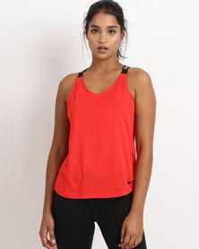 Nike Performance Womens Nike Dry Elastika Tank Pink