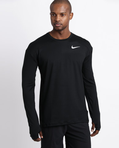 054cdabb Nike Performance Mens Nike Dry Element Crew T-Shirt Black | Zando