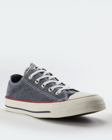 d88105d106f5 ... closeout converse chuck taylor all star stone wash low cut sneakers  navy white 1bd05 6b16f