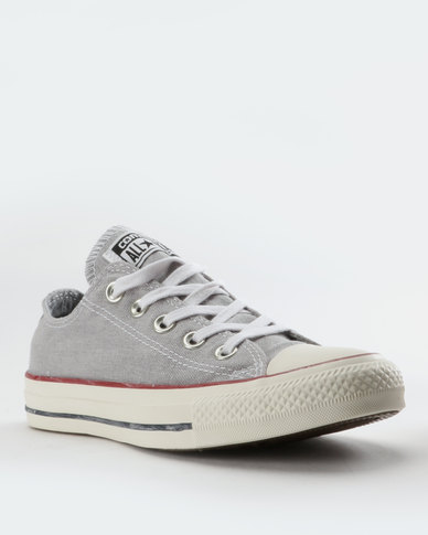 be2b68861b6 Converse Chuck Taylor All Star Stone Wash Low Cut Sneakers Grey White