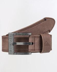 Quiksilver Stitchy Belt Brown