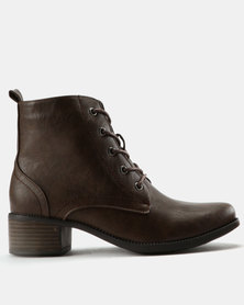 Utopia Combat Boots Brown