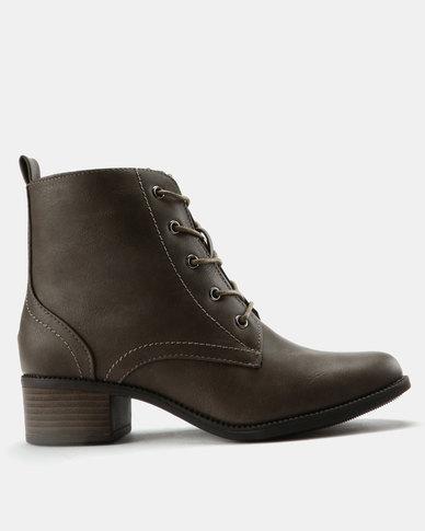 Utopia Combat Boots Taupe
