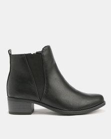 Utopia Gusset Boots Black