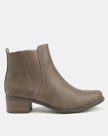 Utopia Gusset Boots Taupe