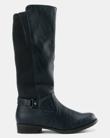 Utopia Utopia Knee High Rider Boots Navy reliable cheap online buy cheap how much sale excellent zXWv0CeLw
