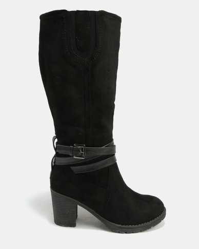free shipping websites clearance best wholesale Utopia Utopia Suedette Knee High Boots Black clearance pick a best ssF4Ui