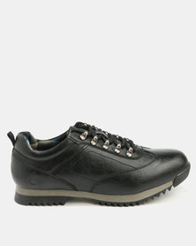 Urbanart Crocco 7 Wax Casual Lace Up Shoes Black