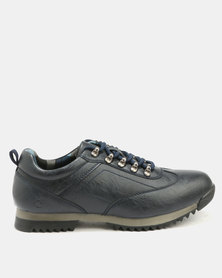 Urbanart Crocco 7 Wax Casual Lace Up Shoes Navy