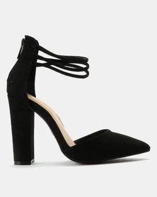 ZOOM Tamara Two Part Court Heels Black