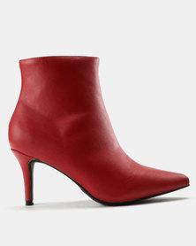ZOOM Nicola Kitten Heel Boot Red