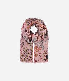 FRAAS Women Dandelion Floral Print Viscose Retro Multicolour Scarf Tea Rose