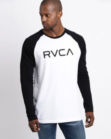 RVCA Big Raglan Long Sleeve T-Shirt Black/White