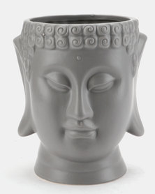 Pamper Hamper Buddha Pot Plant Holder Grey