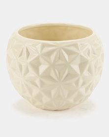 Pamper Hamper Ceramic Pot Plant Cream