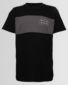 Billabong Boys Banded Die Cut Tee Black