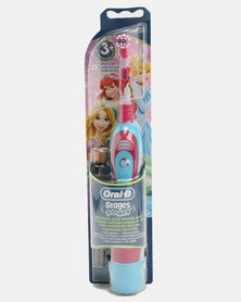 Oral B Stages Kids Battery Princesses Toothbrush Pink