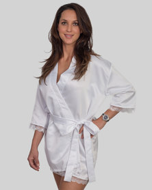 Jatine Bride Dressing Gown White
