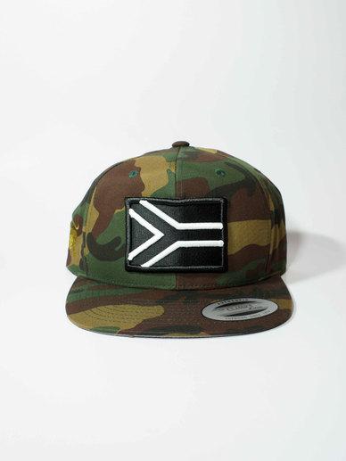 eb780c5fdc5 Iconic Black SnapBack Cap Military Print Khaki