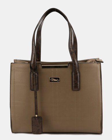Miss Black Structured Tote Bag Taupe  0c7c5788b82e5
