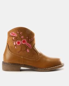 Rock & Co Tahiya Ankle Boot Tan