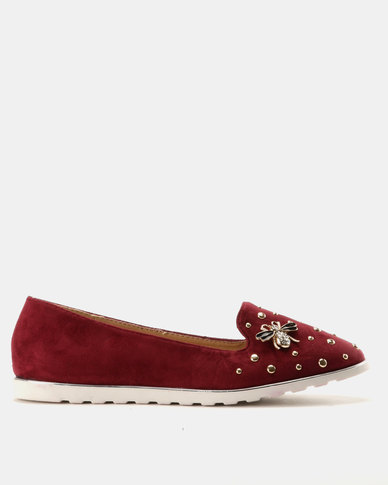 Miss Black Catrin Flat Shoe Burgundy