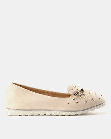 Miss Black Catrin Flat Shoe Nude