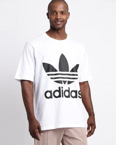 fe118c04ac82 adidas Mens Oversized Tee White/Black | Zando