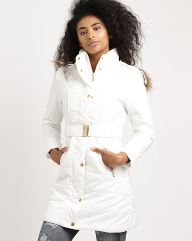Utopia Puffer Coat With Hood Milk