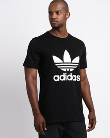 adidas Mens Original Trefoil Tee Black/White