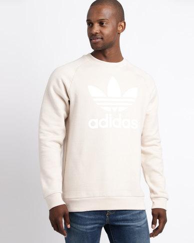 adidas Mens Original Crewneck Sweater White