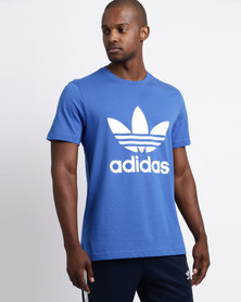 adidas Mens Original Trefoil Tee Blue/White