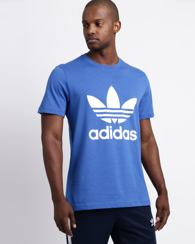 d22847164 adidas Mens Original Trefoil Tee Blue White