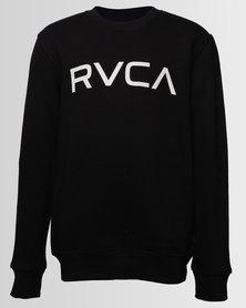 RVCA Boys Big RVCA Crew Neck Sweater Black