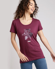 Jeep Core Scoop Neck T-Shirt Grape