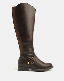 Franco Ceccato Long Rider With Side Elastic Gussets Boots Brown