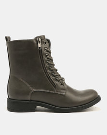 FRANCO CECCATO LACE UP ARMY BOOT