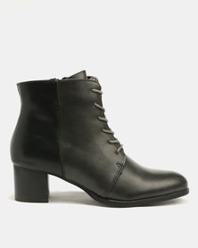 FRANCO CECCATO TWO TONE LACE UP ANKLE BOOT